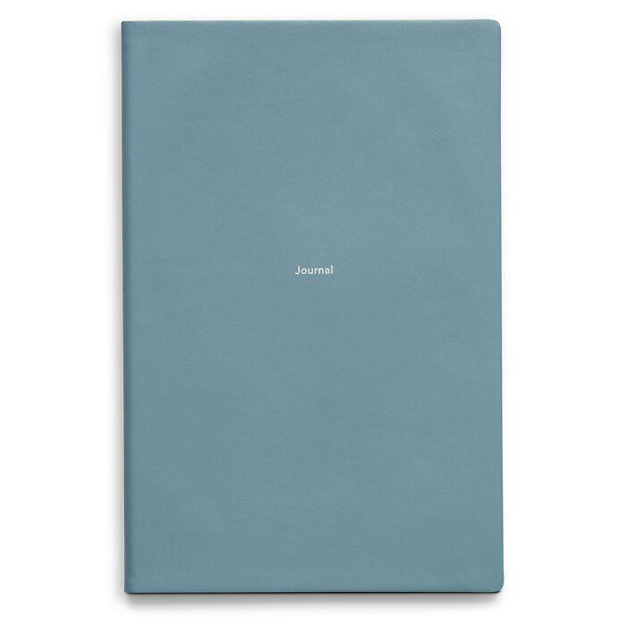 Journal L Notizbuch blanko Pigeon Blue
